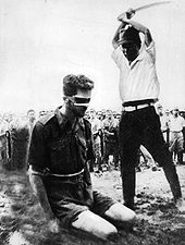 Execution of Sgt L.G. Siffleet, 1943. Wrongly believed for many years to be the execution of Flt Lt Newton VC. Spare a moment to put yourself in Sgt Siffleet's place...